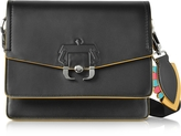 Paula Cademartori Twiggy Black Leather Shoulder Bag
