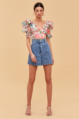 C/Meo DIGRESS TOP ivory floral