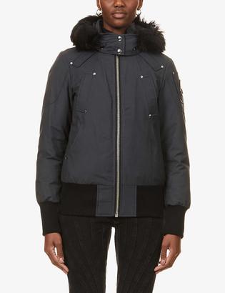 Moose Knuckles Debbie shearling-trim hood cotton-blend jacket
