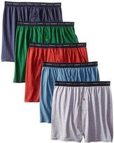 Hanes Red Label Men's 5-Pack FreshIQ Exposed-Waistband Knit Boxers , .