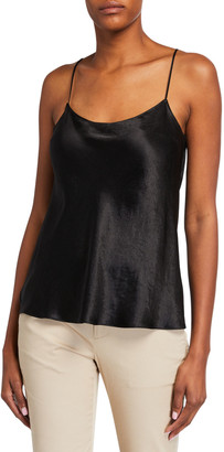 Vince Satin Scoop-Neck Cami