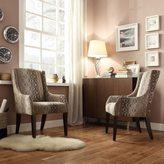 Inspire Q Jourdan Oval Chain Sloped Arm Hostess Chair