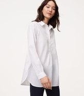 LOFT Henley Tunic Softened Shirt