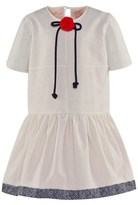 Roksanda Ilincic Cream & Grey Cotton Herringbone Dress