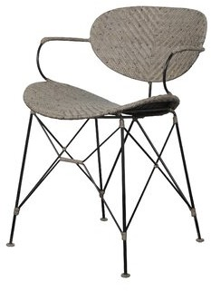 Bungalow Rose Zen Metal Dining Chair Color: Gray