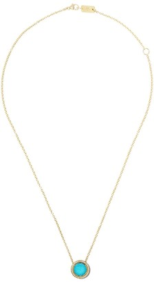 Ippolita 18kt yellow gold and white ceramic Lollipop Carnevale turquoise and diamond pendant necklace