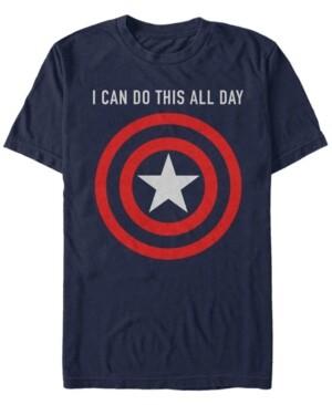 Marvel Men's Captain America I Can Do This All Day Target Shield Chest Logo, Short Sleeve T-Shirt