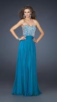 La Femme Embellished Strapless Sweetheart Dress 17498