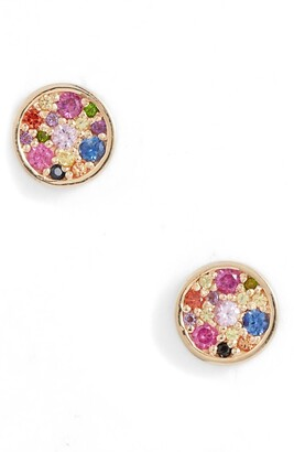 Anzie Love Rainbow Circle Stud Earrings