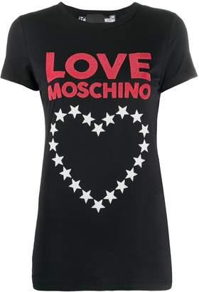 Love Moschino graphic-print crew neck T-shirt