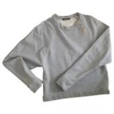 Balmain Grey Cotton Knitwear