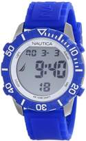 "Nautica Unisex N09932G ""NSR 100"" Fashion Digital Watch with Blue Silicone Band"
