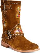 Frye Women's Nat Flower Engineer Boots Women's Shoes