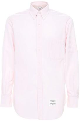 Thom Browne Cotton Oxford Shirt W/ Satin 4 Bar