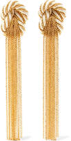 Rosantica Incontro Gold-tone And Cord Clip Earrings