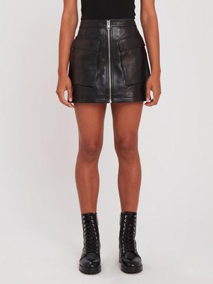 Ksubi Phantom Leather Mini Skirt