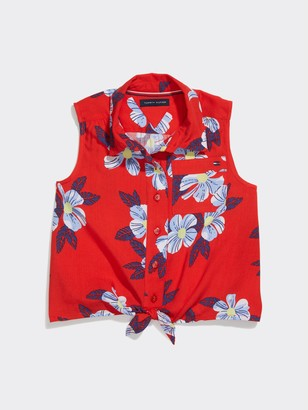 Tommy Hilfiger TH Kids Floral Print Sleeveless Top