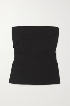 Rick Owens Strapless Cotton-blend Crepe Top