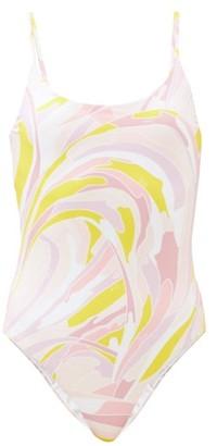 Emilio Pucci Printed Scoop-neck Swimsuit - Pink Multi