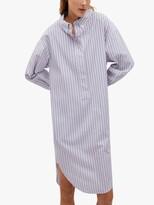Thumbnail for your product : MANGO Striped Midi Shirt Dress, Medium Blue