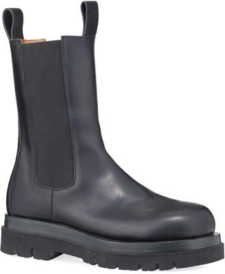 Bottega Veneta Men's Leather Chelsea Lug-Sole Boots