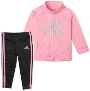 adidas Little Girls 2-Pc. Tricot Jacket & Melange Tights Set