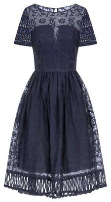 Dorothy Perkins Womens *Chi Chi London Navy Crochet Midi Skater Dress, Navy