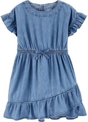 Osh Kosh Toddler Girl Ruffle Denim Dress