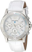 Swiss Legend Women's 'Paradiso' Quartz Stainless Steel and Leather Casual Watch, Color:White (Model: 16016SM-02-WHT)