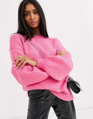 Vila knitted jumper in pink-Red