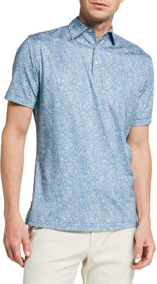 Peter Millar Men's Fairview Floral Jersey Polo Shirt