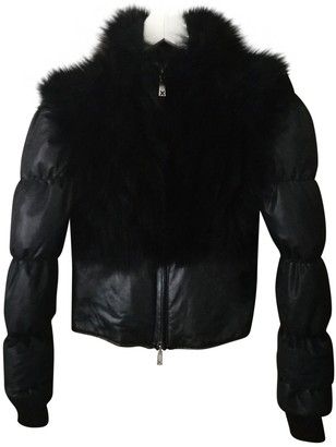 John Richmond Black Fur Jacket for Women