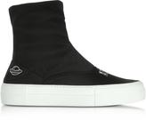 Joshua Sanders Are We Alone Black Neoprene High Top Sneakers