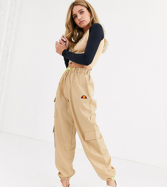 Ellesse high waist cargo pants with pockets