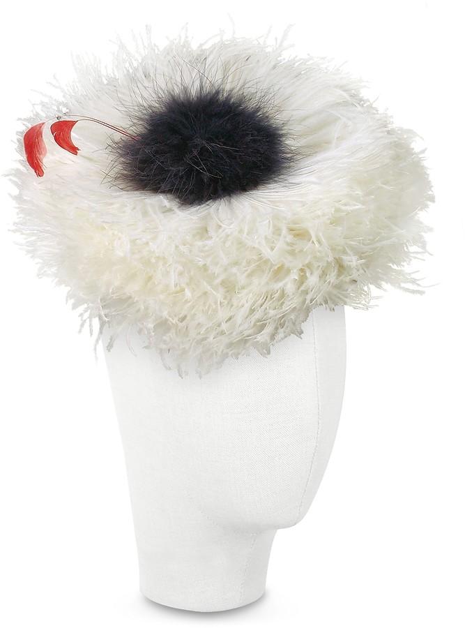 Nana Nana' Abigail - Ivory Ostrich Feather Headdress