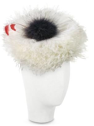Nana Abigail - Ivory Ostrich Feather Headdress