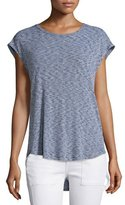 Rag & Bone Highland Ribbed-Knit Draped Tee