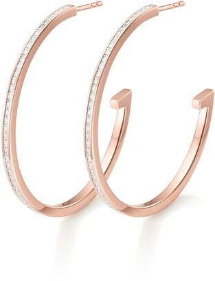 Monica Vinader Large Diamond Pave Hoop Earrings