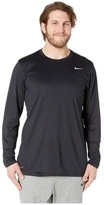 Nike Big Tall Dry Tee Long Sleeve Legend 2.0 (Black/Black/Matte Silver) Men's T Shirt