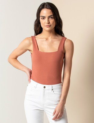 Forever New Hannah Square-Neck Tank - Raw Brick - xxs