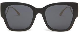 Christian Dior 30montaigne1 Rectangular Acetate Sunglasses - Womens - Black