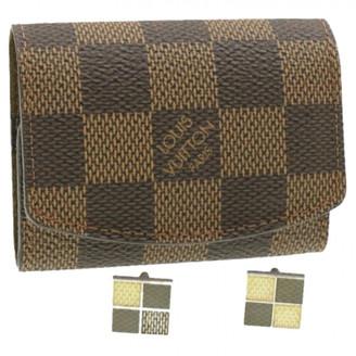 Louis Vuitton Brown Cotton Cufflinks