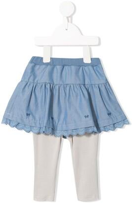 Familiar Tiered Skirt Layered Leggings