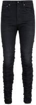 R 13 'Skywalker' ruched skinny jeans
