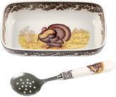 Spode Turkey Cranberry Dish w/ Spoon
