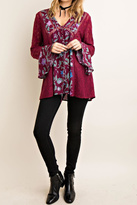 Entro Floral Print Tunic Top