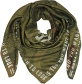 Givenchy Green Cotton and Silk Signature Wrap