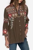 Johnny Was Freddie Embroidered Shirt
