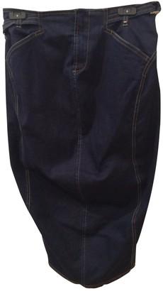 Sportmax Blue Cotton Skirt for Women