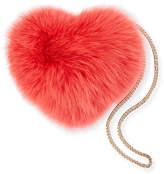 Les Petits Joueurs Heart Fur Pouch Bag with Chain